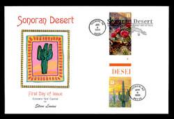U.S. Scott #3293 Sonoran Desert, Press Sheet First Day Cover.  Steve Levine/Colorano cachet, PAIR with Horizontal Gutter
