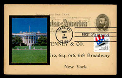 """U.S. Scott #3265 (33c)""""H"""" Coil First Day Cover on UX10 Illustrated Ad.  Steve Levine/Colorano cachet.  (See Warranty)"""