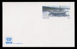 "U.S. Scott # UX 627/UPSS #S641A, 2012 FOREVER (32c) Sailboat, ""Cradle to Cradle"" Logo - Mint Postal Card"