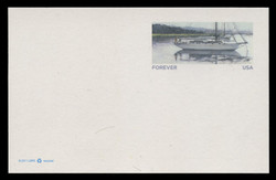 """U.S. Scott # UX 627a/UPSS #S641Aa, 2012 FOREVER (32c) Sailboat, Reprinted WITHOUT the""""Cradle to Cradle"""" Logo - Mint Postal Card"""