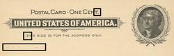 U.S. Scott # UX  14, 1897 1c Thomas Jefferson, black on buff, VARIETY 8 - MINT FACE Postal Card (See Warranty)