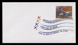 U.S. Scott #3916-25, 2005 37c Advances in Aviation SET of 10 First Day Covers.  Digital Colorized Postmarks