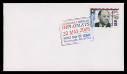U.S. Scott #4076a-f, 2006  39c American Diplomats SET of 6 First Day Covers.  Digital Colorized Postmarks