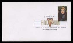 U.S. Scott #4350, 2008 42c Legends of Hollywood - Bette Davis First Day Cover.  Digital Colorized Postmark