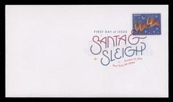 U.S. Scott #4712-5, 2012 (45c) Christmas - Santa & Reindeer SET of 4 First Day Covers.  Digital Colorized Postmarks