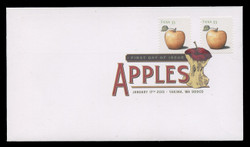 U.S. Scott #4727-30, 2013 (33c) Apples - Sheet Stamps SET of 4 First Day Covers.  Digital Colorized Postmarks