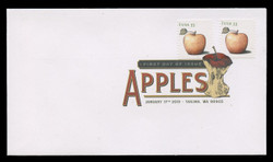 U.S. Scott #4731-4, 2013 (33c) Apples - Coils SET of 4 First Day Covers.  Digital Colorized Postmarks