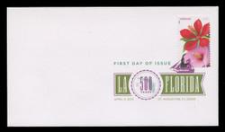 U.S. Scott #4750-3, 2013 (45c) La Florida SET of 4 First Day Covers.  Digital Colorized Postmarks