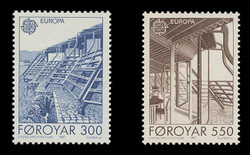 FAROE ISLANDS Scott # 156-7, 1987 EUROPA - Living Architecture (Set of 2)