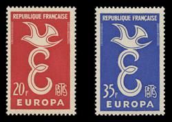 FRANCE Scott #  889-90, 1958 EUROPA (Set of 2)