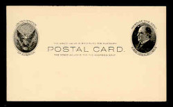 U.S. Scott # UX  18, 1902 1c William McKinley, Side View, black on buff - Mint Face Postal Card