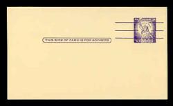 U.S. Scott # UX  46d/UPSS #S65, 1961 3c Statue of Liberty, Precancelled with 3 lines - Mint Face Postal Card