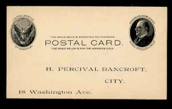U.S. Scott # UX  18, 1902 1c William McKinley, Side View, black on buff - Unused (Preprinted) Postal Card