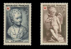 FRANCE Scott # B 255-6, 1950 Red Cross (Set of 2)
