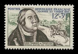 FRANCE Scott # B 302, 1956 Stamp Day