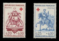 FRANCE Scott # B 347-8, 1960 Red Cross (Set of 2)