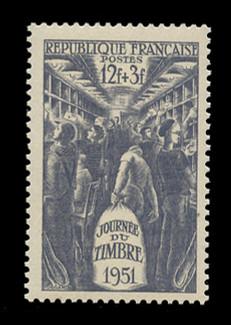 FRANCE Scott # B 257, 1951 Stamp Day
