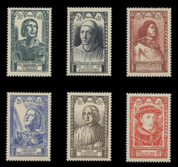 FRANCE Scott # B 207-12, 1946 National Relief, Famous Frenchmen (Set of 6)