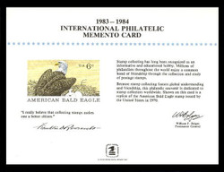 Brookman PS47/Scott SC87 1983 Philatelic Memento '83 Souvenir Card