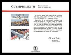 Brookman PS56/Scott SC102 1985 Olymphilex '85 Souvenir Card