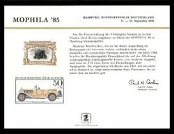Brookman PS59/Scott SC108 1985 Mophila '85 Souvenir Card