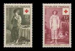 FRANCE Scott # B 309-10, 1956 Red Cross (Set of 2)