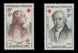 FRANCE Scott # B 337-8, 1959 Red Cross (Set of 2)
