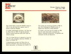 Brookman PS64/Scott SC117 1987 Capex '87 Souvenir Card
