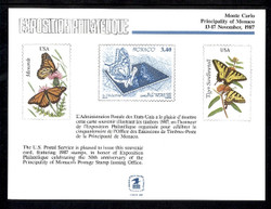 Brookman PS66/Scott SC121 1987 Monte Carlo Souvenir Card