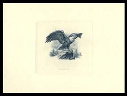Brookman B 70/NO Scott # 1984 Spider Press, Intaglio, Blue Eagle