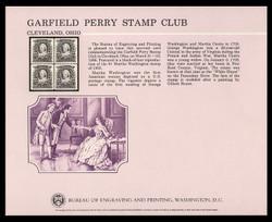 Brookman B 89/Scott SC111 1986 Garifeld-Perry Stamp Club