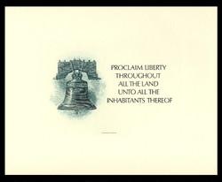 Brookman B 91-2/NO Scott # 1986 Spider Press, Green Liberty Bell with Card