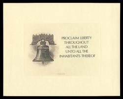 Brookman B 95-6/NO Scott # 1986 Spider Press, Brown Liberty Bell with Card