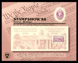 Brookman B118/Scott SC123 1988 APS Stampshow, Detroit