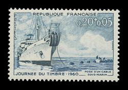 FRANCE Scott # B 339, 1960 Stamp Day