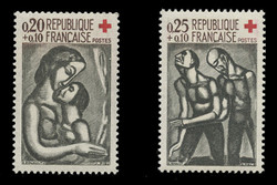 FRANCE Scott # B 356-7, 1961 Red Cross (Set of 2)