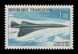 FRANCE Scott # C 42, 1969 I.T.T. Concorde Issue