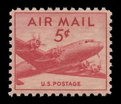 U.S. Scott # C  33, 1947 5c DC-4 Skymaster
