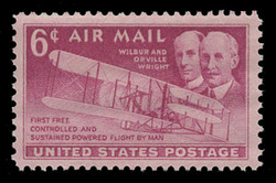 U.S. Scott # C  45, 1949 6c Wright Brothers & Plane