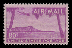 U.S. Scott # C  46, 1952 80c Diamond Head, Hawaii