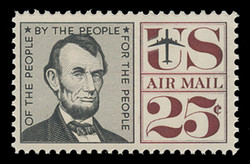 U.S. Scott # C  59, 1960 25c Abraham Lincoln