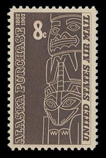 U.S. Scott # C  70, 1967 8c Alaska Purchase