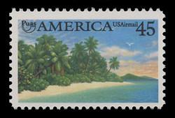 U.S. Scott # C 127, 1990 45c Pre-Columbian America