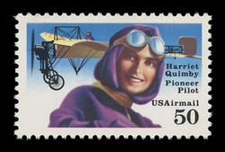 U.S. Scott # C 128, 1991 50c Harriet Quimby - Perf. 11