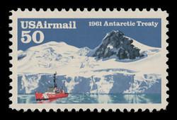 U.S. Scott # C 130, 1991 50c Antarctic Treaty, 30th Anniversary