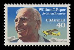 U.S. Scott # C 132, 1993 40c William T. Piper, Re-Drawn, (See Warranty)