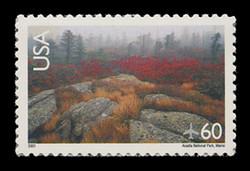 U.S. Scott # C 138, 2001 60c Arcadia National Park - Perf. 11.25 x 11.5, 2001 Year Date