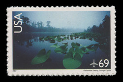 U.S. Scott # C 142, 2007 69c Okefenokee Swamp, Georgia and Florida