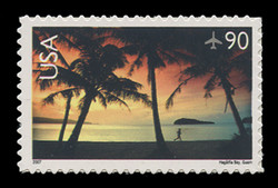 U.S. Scott # C 143, 2007 90c Hagatna Bay, Guam