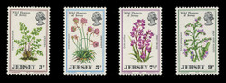 JERSEY Scott #   61-4, 1972 Wild Flowers of Jersey (Set of 4)